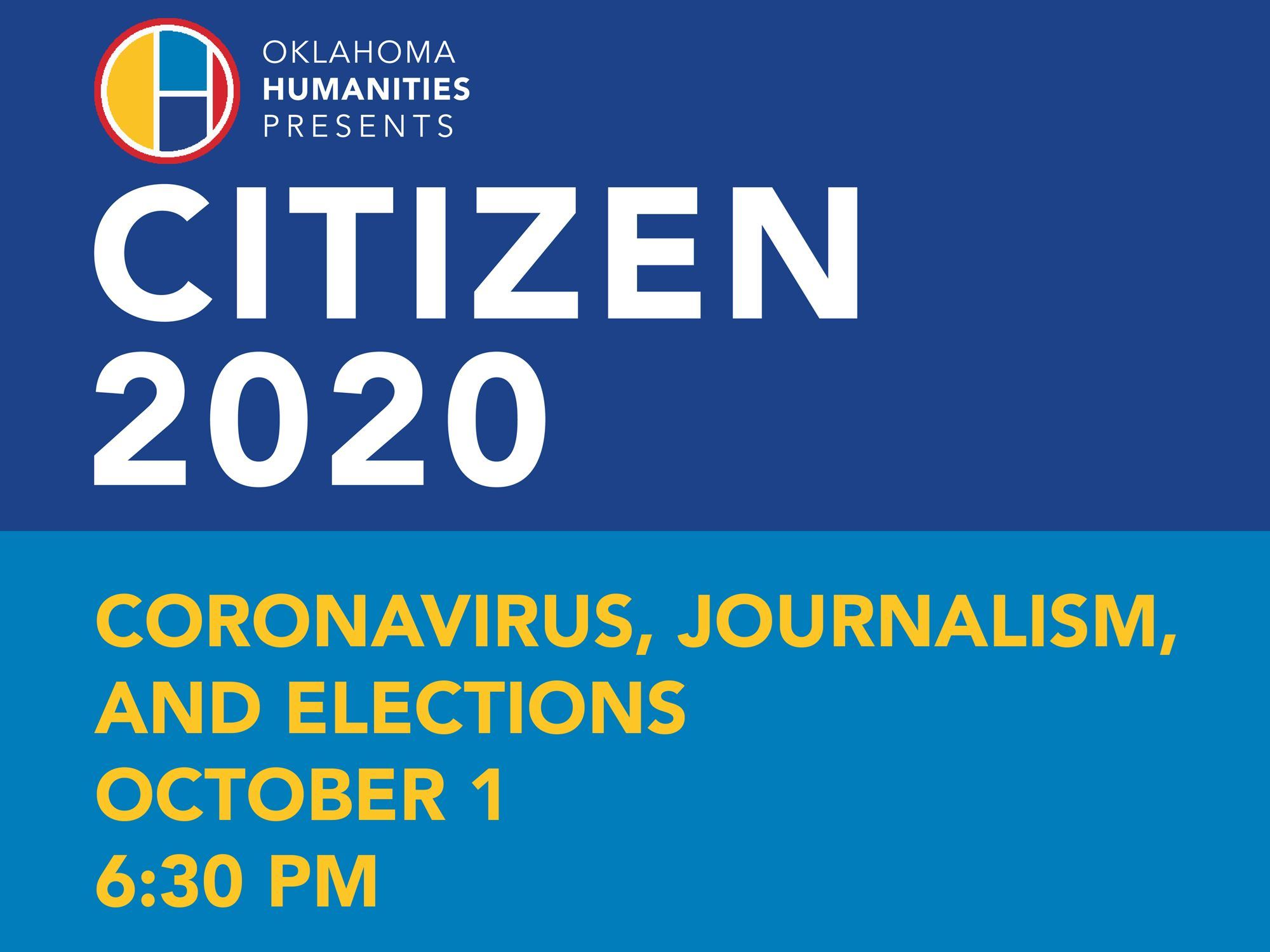 Citizen 2020 - Coronavirus, Journalism and Elections Oct 1 event