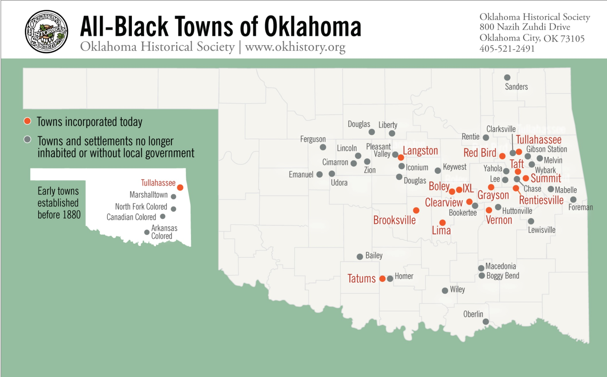OK Black Towns map
